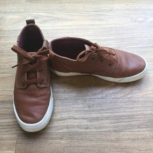 Brown Leather Triumph Mid-Rise Keds